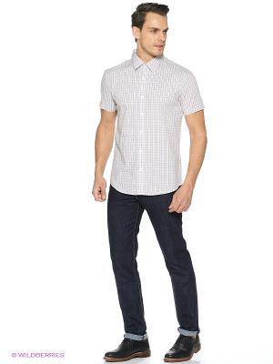 Рубашка Finn Flare. Цвет: светло-серый, кремовый