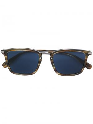 Квадратные солнцезащитные очки Brioni. Цвет: коричневый