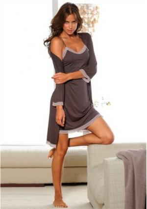 Ночная сорочка Marie Claire. Цвет: серо-коричневый