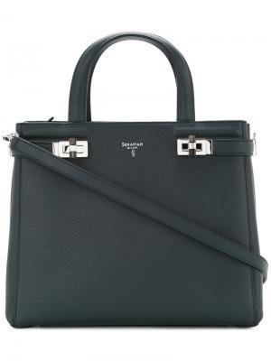 Мини-сумка Meline Serapian. Цвет: синий