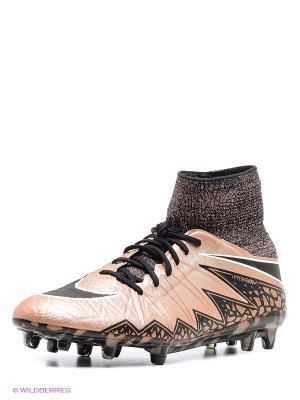 Бутсы HYPERVENOM PHANTOM II FG Nike. Цвет: бледно-розовый