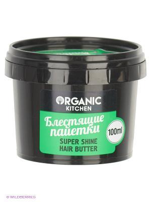 Масло для волос. Супер-блеск Блестящие паетки100мл Organic Shop. Цвет: черный