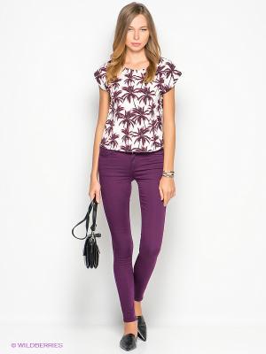 Блузка New Look. Цвет: белый, черный, фуксия