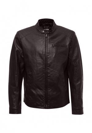 Куртка кожаная Sela. Цвет: коричневый
