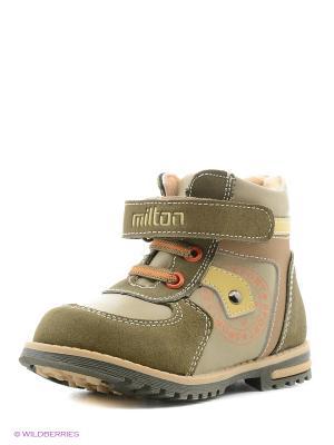 Ботинки Milton. Цвет: хаки