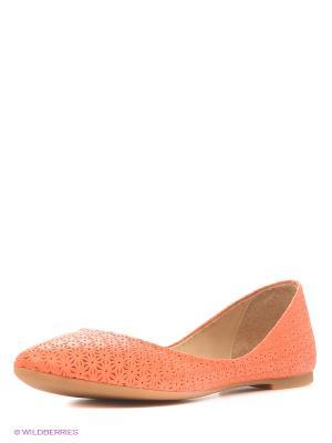 Балетки Dino Ricci. Цвет: оранжевый