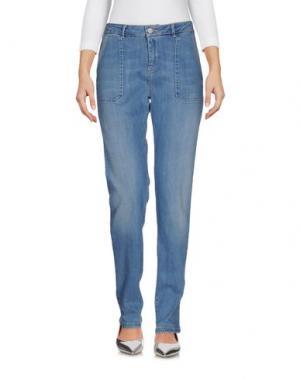 Джинсовые брюки REIKO. Цвет: синий