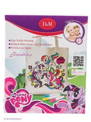 Набор для росписи сумочки Дружба My Little Pony Делай с мамой. Цвет: белый
