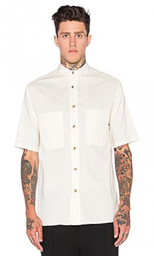 Рубашка на пуговицах с коротким рукавом Wil Fry. Цвет: беж
