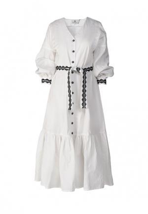 Платье Bergamoda. Цвет: белый