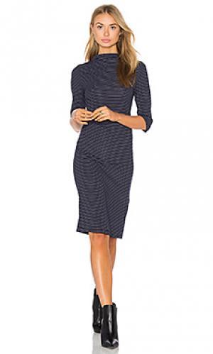 Платье с высоким воротом webster PFEIFFER. Цвет: синий