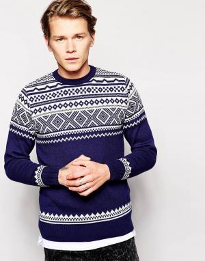 Vacant Рождественский джемпер. Цвет: темно-синий