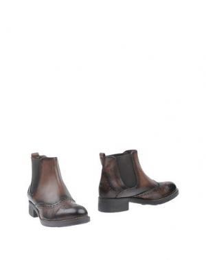 Полусапоги и высокие ботинки ANGELA GEORGE. Цвет: темно-коричневый