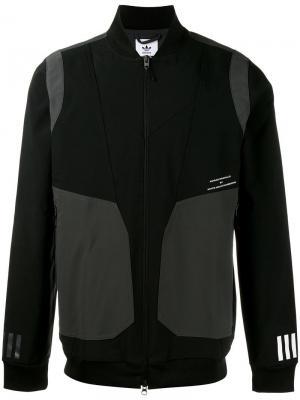 Спортивная куртка на молнии Adidas By White Mountaineering. Цвет: чёрный