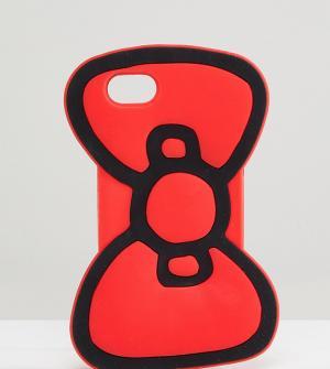 ASOS Чехол для iPhone 6/6S/7/8 с бантиком Hello Kitty x. Цвет: красный