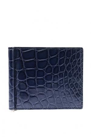 Синий бумажник Gucci. Цвет: синий