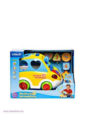 Развивающая игрушка Веселый автомобиль Vtech. Цвет: голубой (осн.), желтый