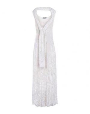 Длинное платье IVAN MONTESI. Цвет: слоновая кость