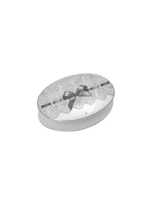 Шкатулка керамическая 15,7 x 11,5 4,3 дизайн- Кружево Mathilde M. Цвет: черный, белый