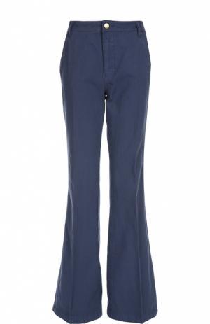 Расклешенные брюки с завышенной талией Tory Burch. Цвет: синий