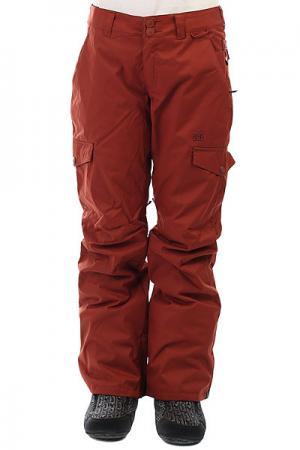 Штаны сноубордические женские DC Ace Burnt Henna Shoes. Цвет: оранжевый