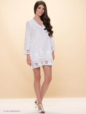 Платье ELENA FEDEL. Цвет: белый