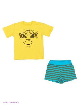 Пижама PELICAN. Цвет: желтый