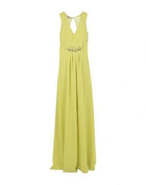 Длинное платье PINKO. Цвет: кислотно-зеленый