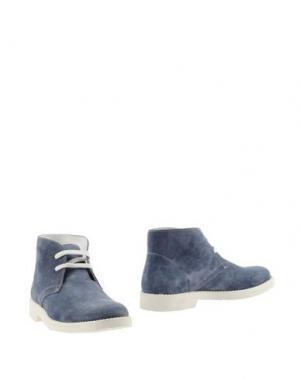Полусапоги и высокие ботинки WALKER. Цвет: небесно-голубой