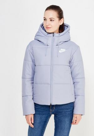 Куртка утепленная Nike. Цвет: голубой