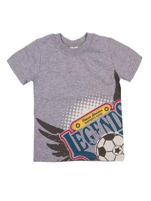 Футболка PEPELINO. Цвет: серый, черный