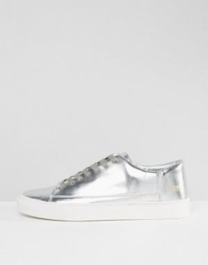Systvm Серебристые низкие кроссовки. Цвет: серебряный