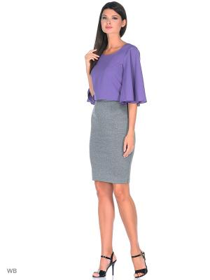 Блузка BERTEN. Цвет: фиолетовый
