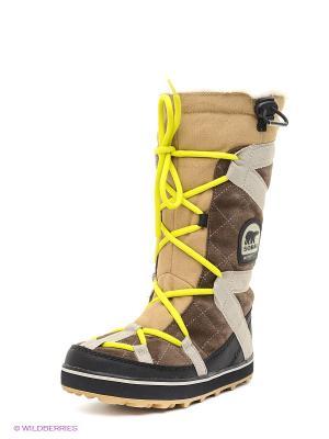 Ботинки SOREL. Цвет: серо-коричневый, бежевый, черный
