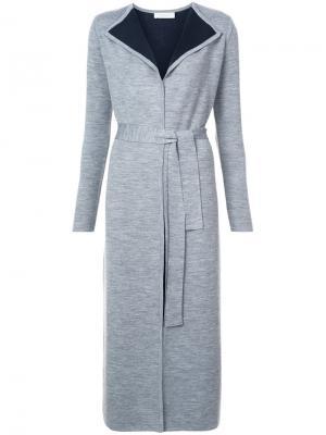 Кардиган-пальто с контрастной подкладкой Gabriela Hearst. Цвет: серый