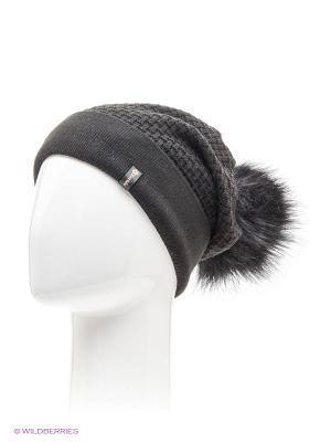 Ребека Беркле шапка женская с помпоном Berkle. Цвет: черный
