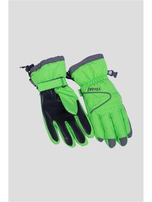 Перчатки OKWAY. Цвет: зеленый