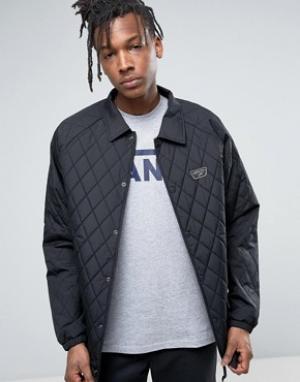 Vans Черная стеганая спортивная куртка Torrey. Цвет: черный