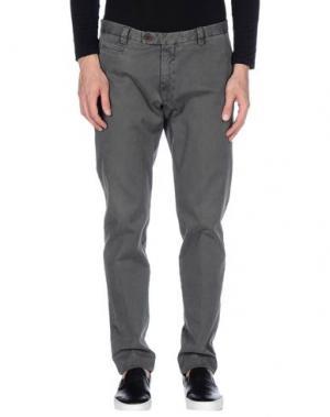 Повседневные брюки BERWICH. Цвет: свинцово-серый