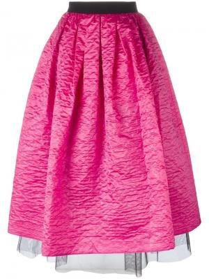 Пышная юбка с помятым эффектом Marc Jacobs. Цвет: розовый и фиолетовый