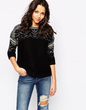 Sessun Черный свитер крупной вязки. Цвет: черный
