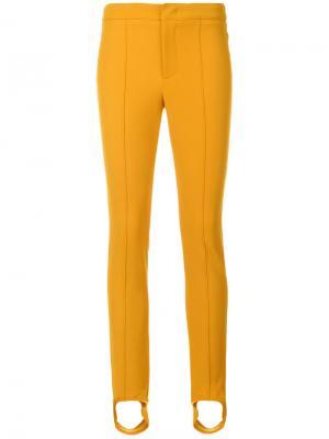 Брюки со штрипками Moncler Grenoble. Цвет: жёлтый и оранжевый