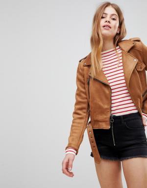 Pimkie Байкерская куртка. Цвет: рыжий