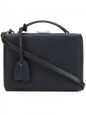 Маленькая сумка на плечо Grace Mark Cross. Цвет: синий