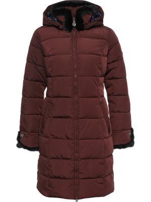Стеганое пальто Finn Flare. Цвет: бордовый