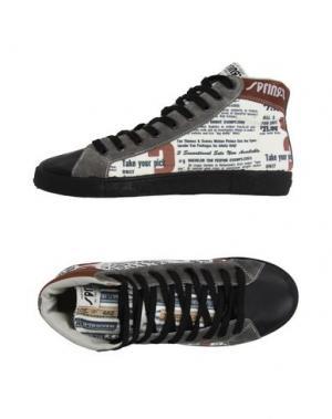 Высокие кеды и кроссовки SPRINGA. Цвет: черный