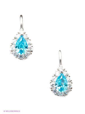 Серьги Lovely Jewelry. Цвет: голубой, серебристый