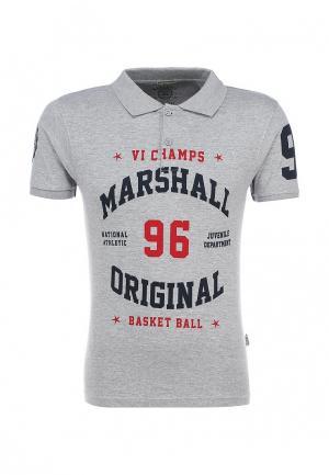 Поло Marshall Original. Цвет: серый