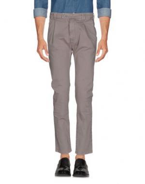 Повседневные брюки JCOLOR. Цвет: голубиный серый