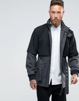 Rogues of London Пальто с дополнительным верхним слоем. Цвет: серый